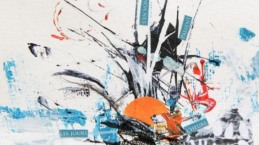 Collage poétique réalisé avec différents médiums