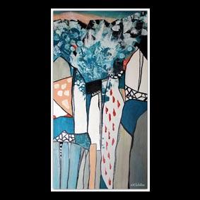 peinture Abstraite sur le theme de la banquise