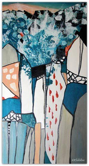 L'élégie-pour-l'artique peinture abstraite